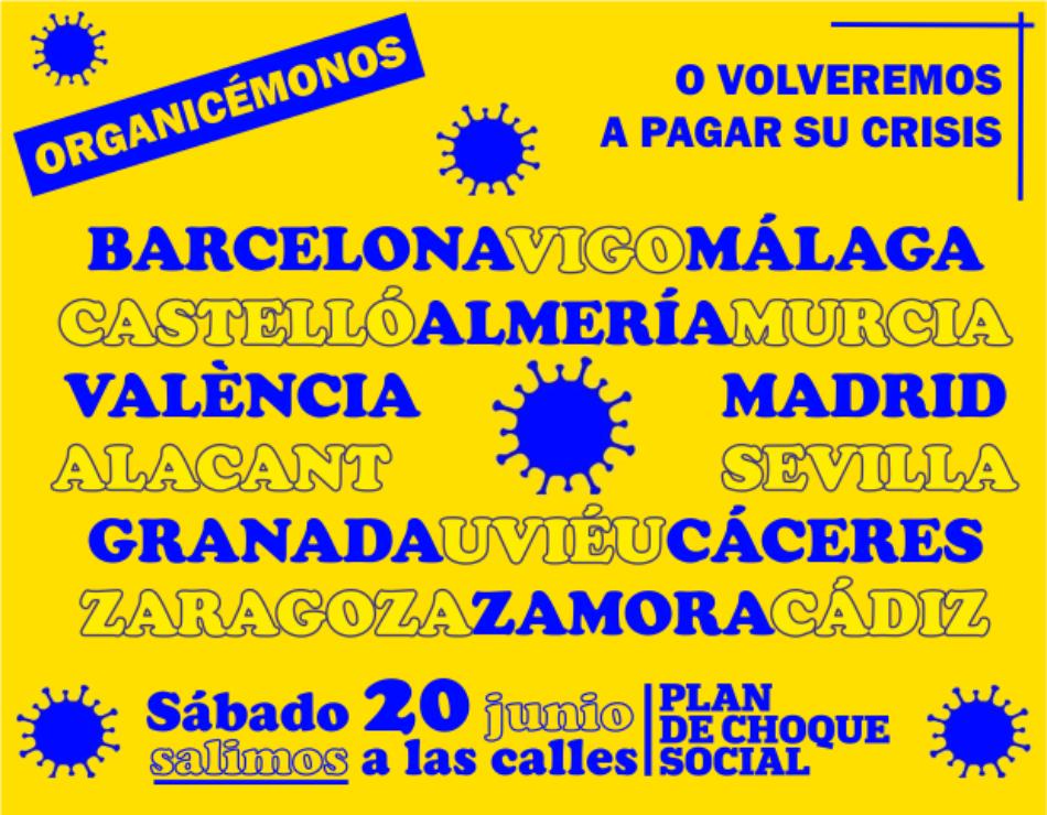 Plan de Choque Social sale a la calle en Madrid por una salida justa de la crisis y la defensa de la Sanidad Pública