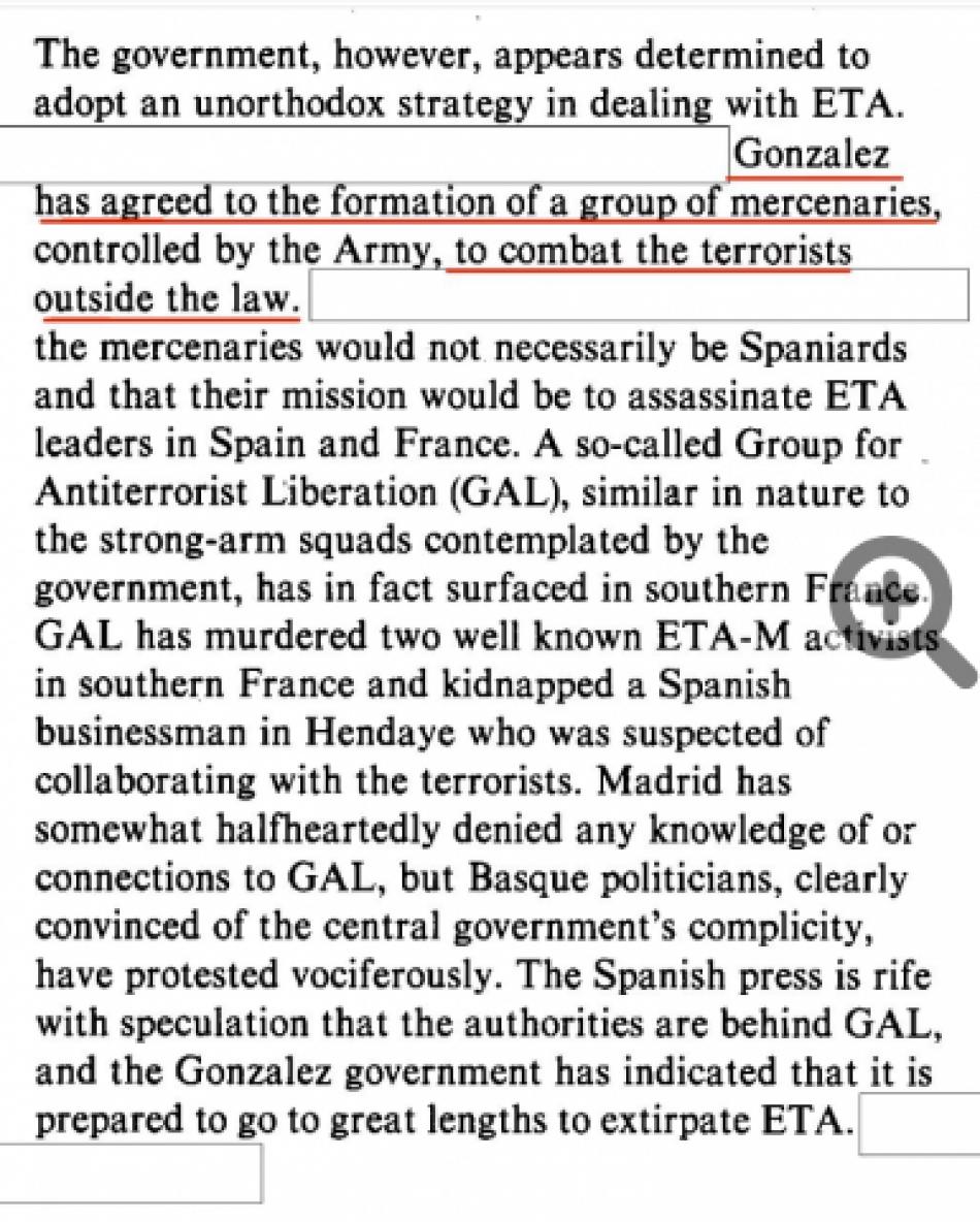 Grillos en los medios corporativos tras desclasificar la CIA que Felipe González acordó la creación de los GAL