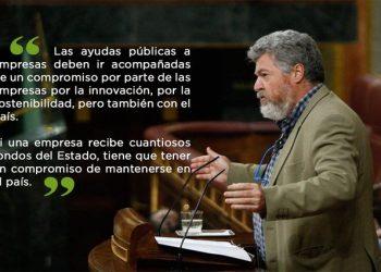 Unidas Podemos critica a VOX por entorpecer el proceso de transformación verde de la economía española con su enmienda a la totalidad del proyecto de ley de Cambio Climático