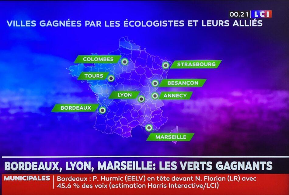 Elecciones municipales en Francia: la izquierda crece y Los Verdes dan la sorpresa
