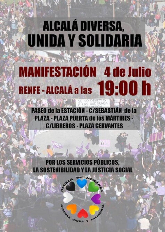 Izquierda Unida se suma a la manifestación «Alcalá diversa, unida y solidaria»