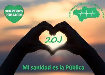 La Coordinadora Andaluza de Mareas Blancas llama a participar en los actos contra la privatización de la sanidad el 20-J