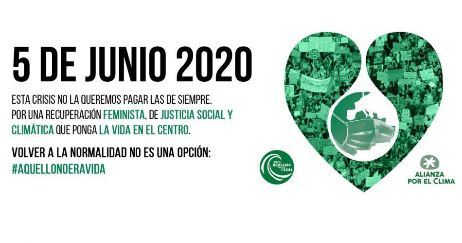 Concentración en Madrid en el Día Mundial del Medio Ambiente por una salida justa de la crisis sanitaria
