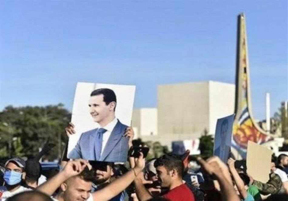 Una gran manifestación en Damasco condena la ley de sanciones de EEUU