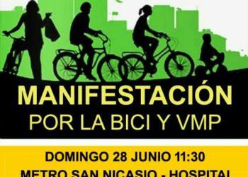 Domingo 28-J: Marcha en Leganés para reclamar carriles bici y aceras más anchas
