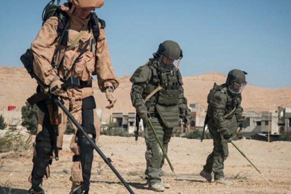 Desactivan cientos de minas sembradas por terroristas en siria