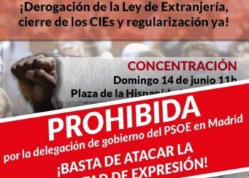 La Delegación del Gobierno del PSOE prohíbe una concentración antirracista y antifascista en Alcorcón