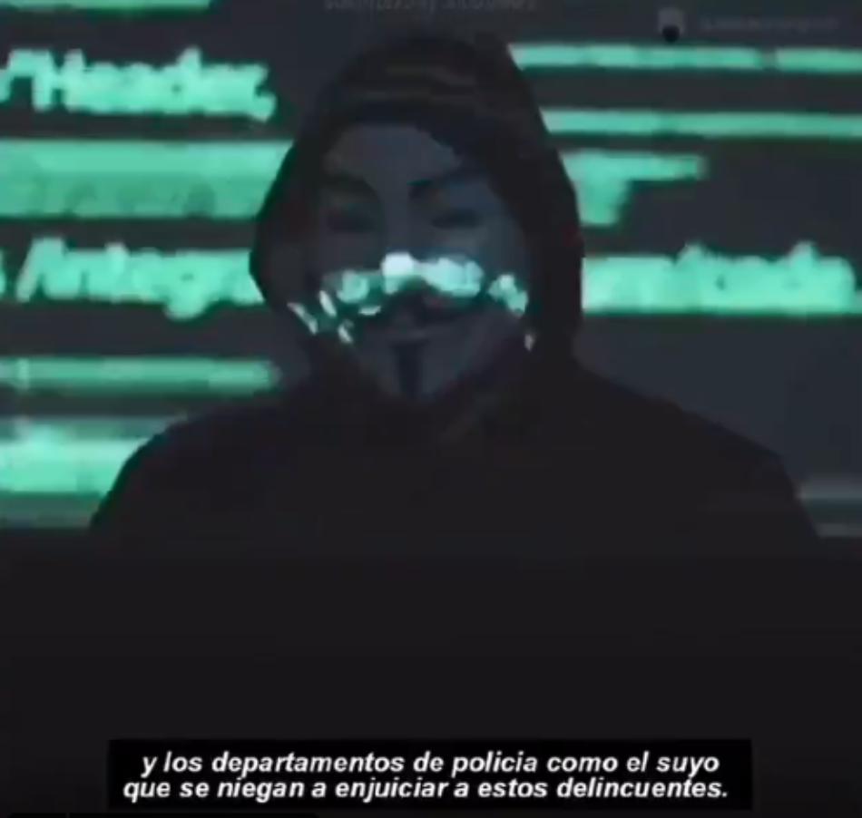 Anonymous asegura que expondrá muchos de los crímenes de la policía al mundo