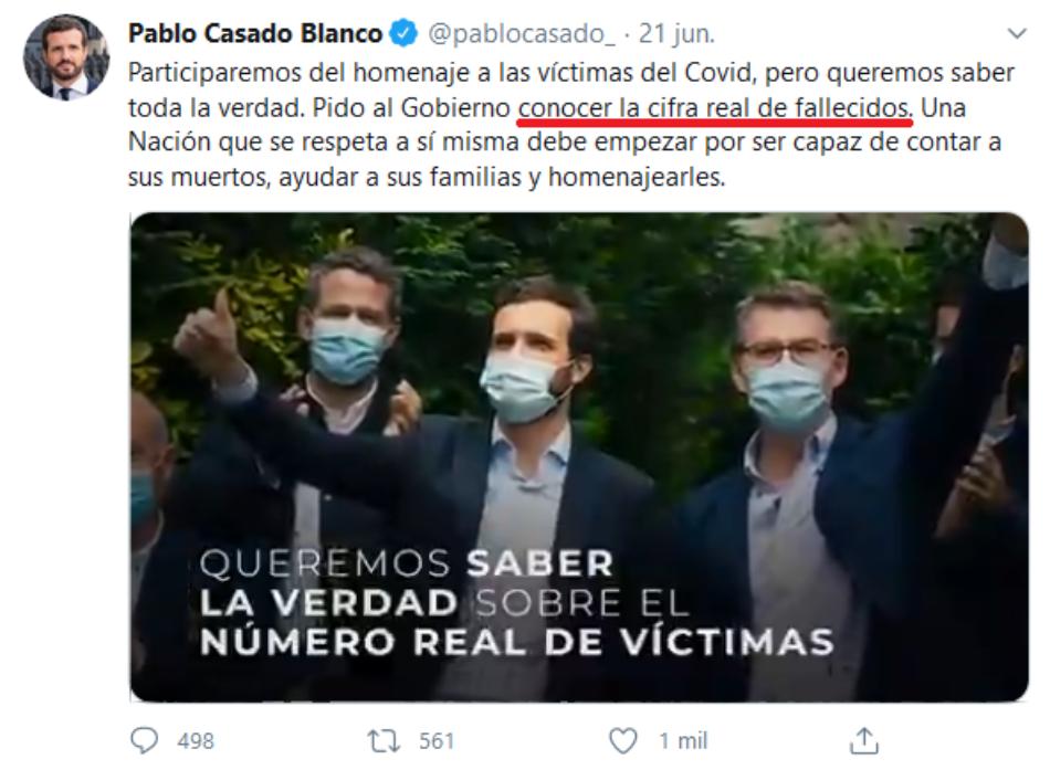 El PP amenaza con una denuncia tras publicarse su argumentario, en el que pide usar la cifra de los muertos en la campaña electoral