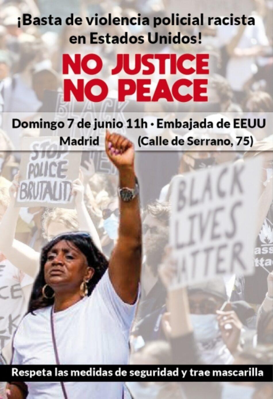 Concentración de solidaridad : «¡Basta de violencia policial racista en Estados Unidos!»