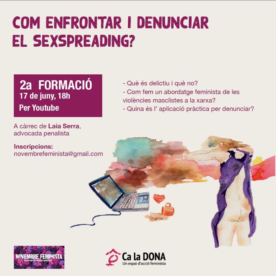 «Como enfrentar y denunciar el Sexspreading?» a cargo de la abogada Laia Serra