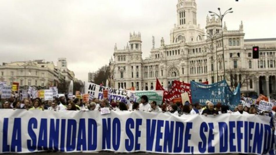 Decenas de organizaciones de la Comunidad de Madrid se unen para defender la salud como derecho