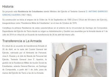 Piden retirada del nombre franquista de una residencia de estudiantes