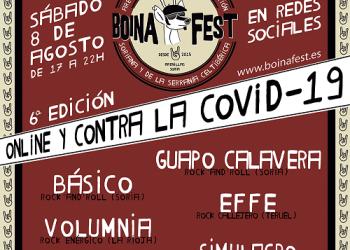 Guapo Calavera, Básico, Effe, Volumnia, Varo V y Simulacro se suman a la lucha contra la despoblación y el coronavirus del Boina Fest