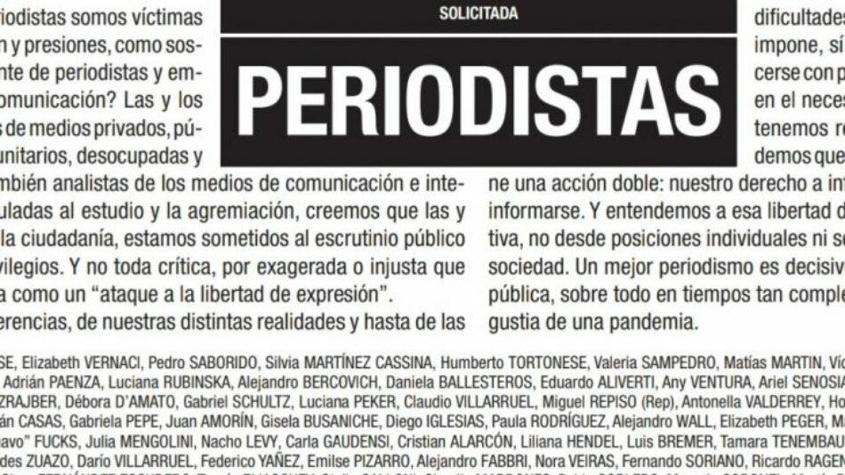 """«Periodistas: No toda crítica es un ataque a la libertad de expresión"""""""
