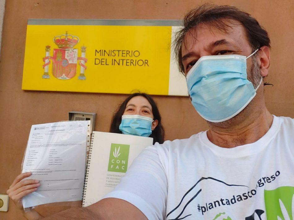 Trasladan al ministro del interior las demandas del movimiento social cannábico: «Stop represión, Play a la regulación del Cannabis en España»