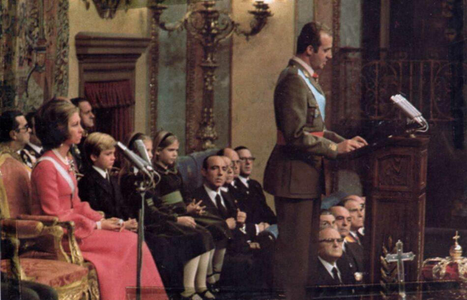 Crónicas periodísticas y primer discurso de Juan Carlos I (22 noviembre 1975)