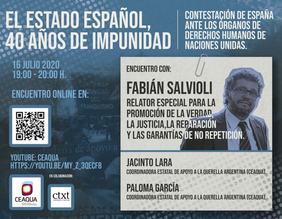 Encuentro con Fabian Salvioli, con el Relator Especial de Naciones Unidas