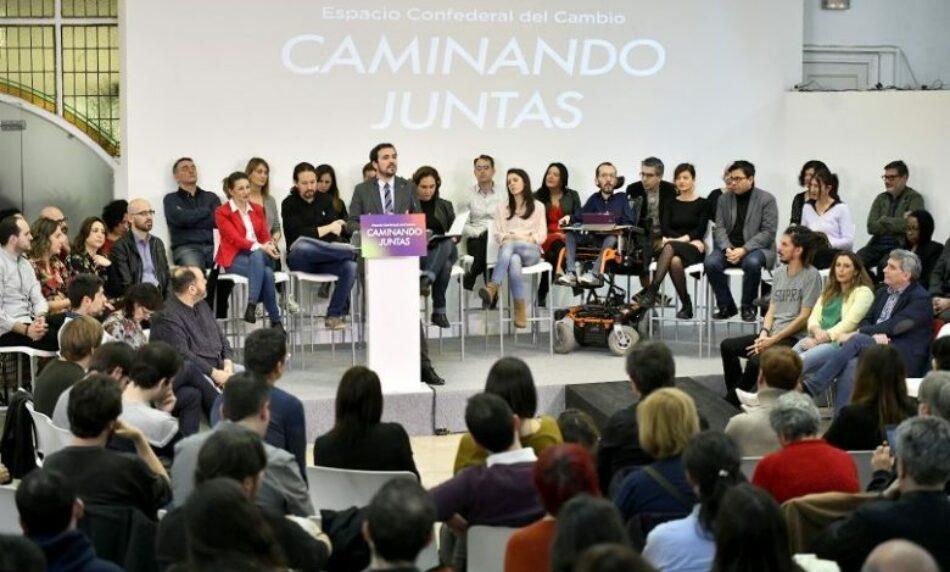 Izquierda Unida convoca a la movilización en apoyo del gobierno de coalición para la recuperación democrática