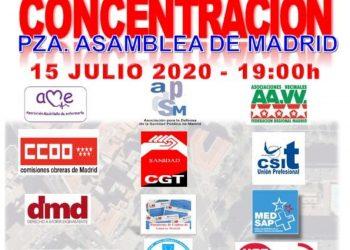 Organizaciones y sindicatos convocan una movilización en defensa de la Sanidad Pública en Madrid el 15 de julio