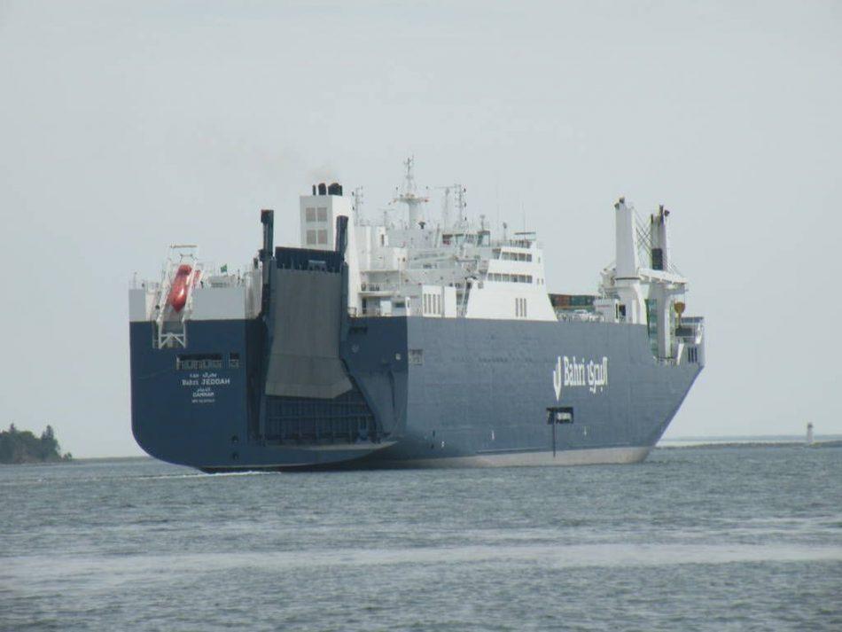 Solicitan a la Comisión Europea que investigue las prácticas ilegales de los buques saudíes que transportan armamento desde España