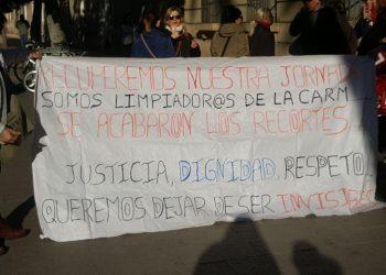 La Plataforma en defensa de las trabajadoras y trabajadores de la limpieza, edificios y locales en la Región de Murcia convoca concentración en reivindicación de un contrato digno