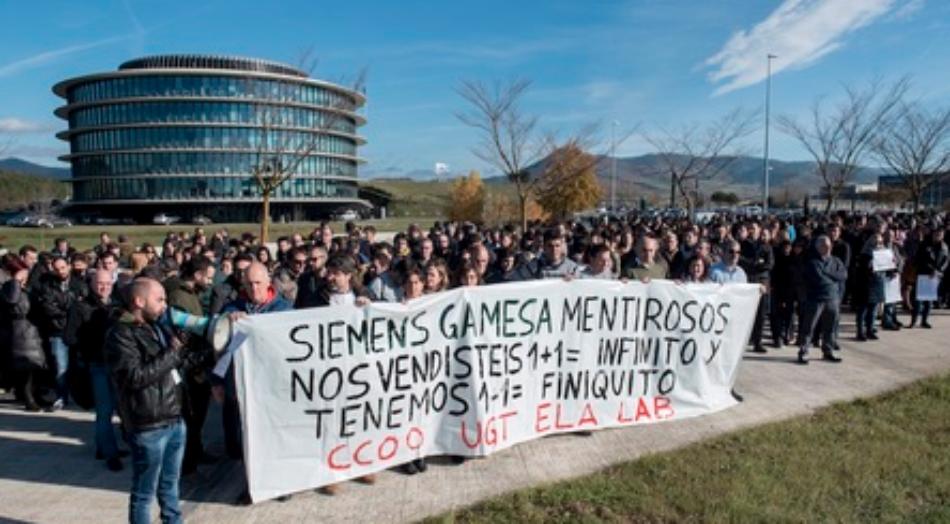 El PCE-EPK de Navarra y Gazte Komunistak-UJCE muestran su total solidaridad con la plantilla de la planta de Aoiz de Siemens Gamesa