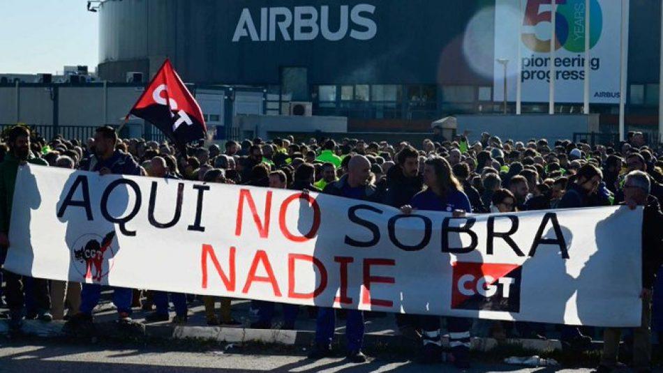 CGT presenta sus alternativas al plan de ajuste de Airbus 20-20