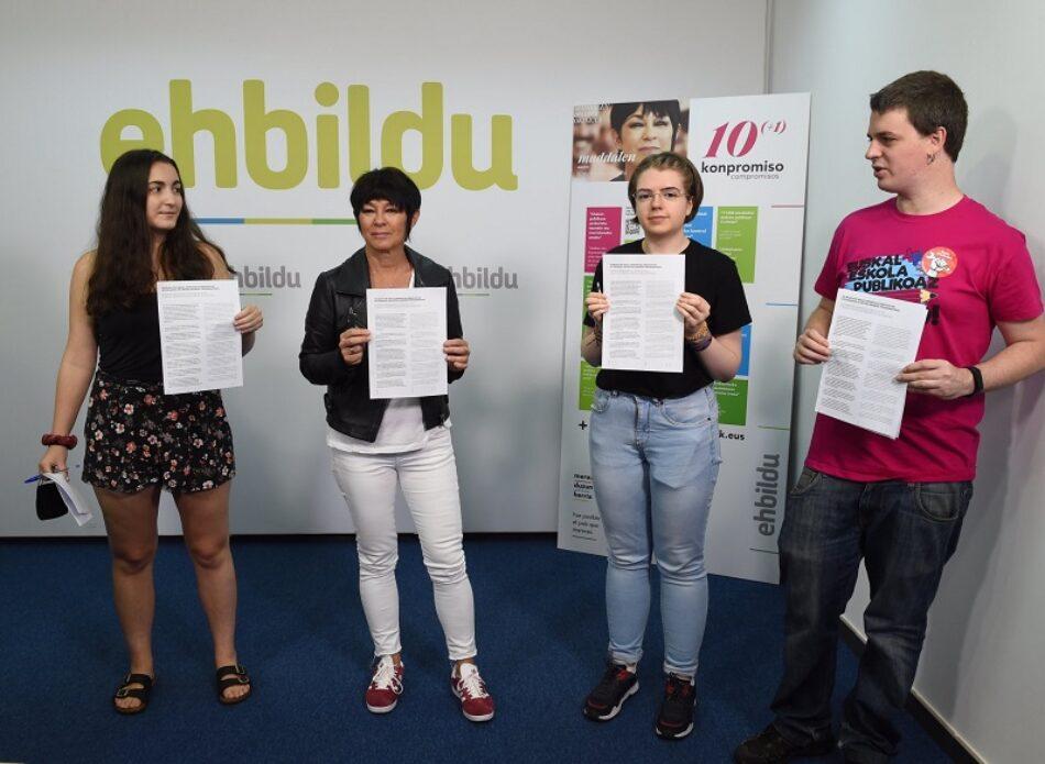 Acuerdo EH Bildu – Ikasle Sindikatua / Sindicato de Estudiantes: «¡Fuera el PNV! ¡Defender políticas de izquierdas con la movilización social!»