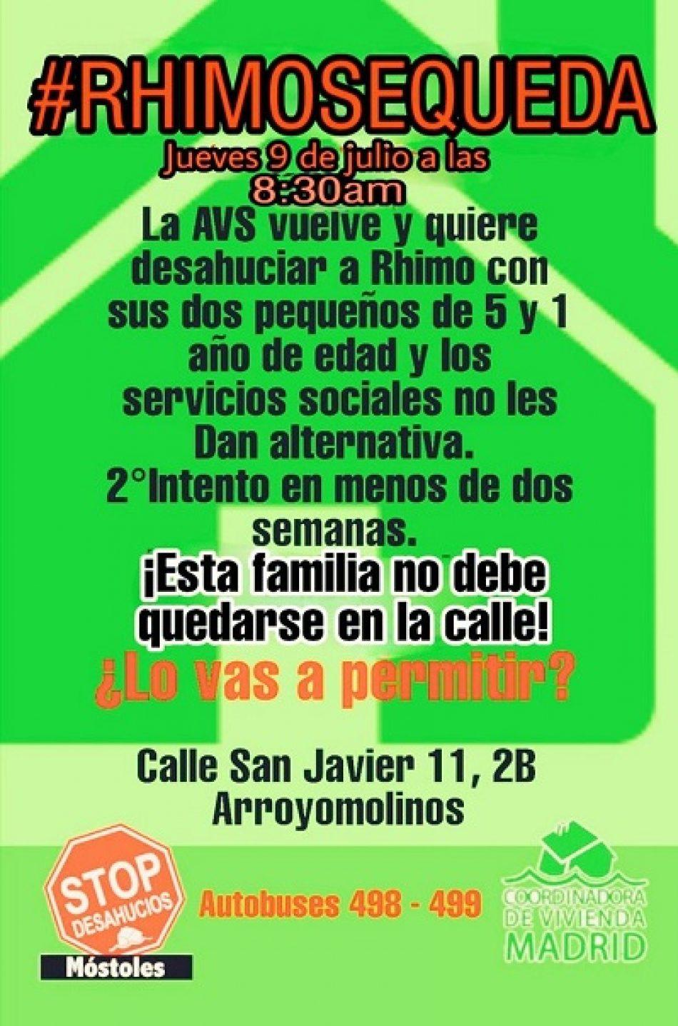 La agencia de vivienda social de la CAM y el Ayuntamiento de Arroyomolinos dejan en situación de desamparo a una familia con dos menores