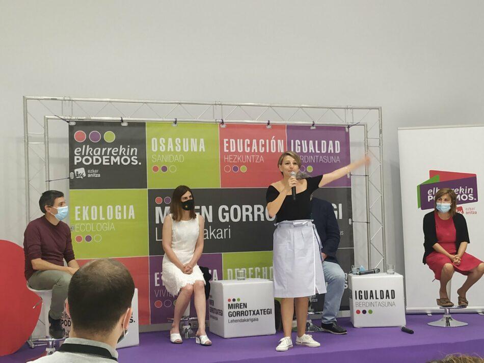 Partido Comunista de Euskadi-EPK pide votar a la coalición Elkarrekin Podemos-Izquierda Unida para constituir un gobierno que defienda los intereses de la clase trabajadora y los sectores más vulnerables