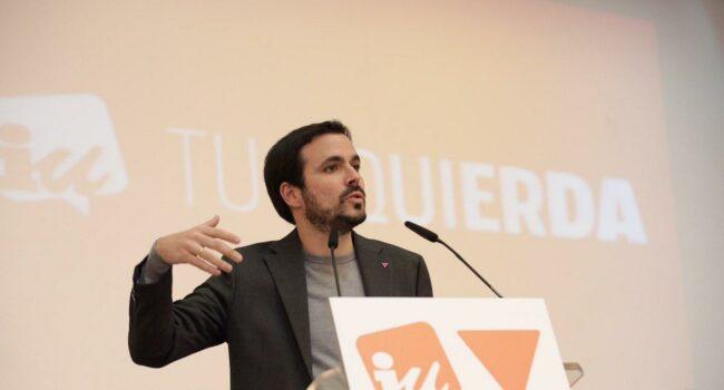 """Garzón afirma que la """"política nítida de izquierda"""" que necesita el Gobierno para los Presupuestos pasa por """"reforzar la mayoría de investidura"""" como """"única opción viable y sostenible"""""""