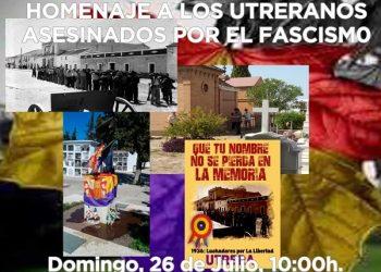El Foro Construyendo ReDpública organiza un Homenaje en Utrera a las Víctimas del franquismo el próximo 26 de Julio