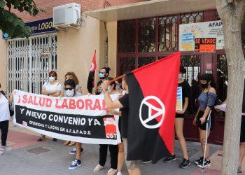Continúa la huelga en la residencia de AFAPADE en Murcia