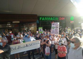 La vecindad de La Poveda (Arganda) intensifica sus protestas por la reapertura de su consultorio médico