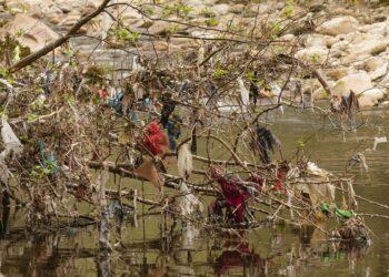 Basta ya de bolsas de plásticos abandonadas en el medio ambiente asturiano