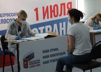 Más de 55 por ciento de participación en referendo ruso