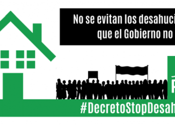 PAH AlcoSanse reclama un decreto que suspenda los desahucios para toda persona vulnerable