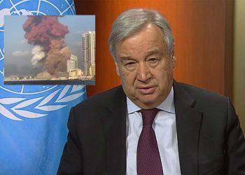 ONU reitera apoya al Líbano tras violentas explosiones