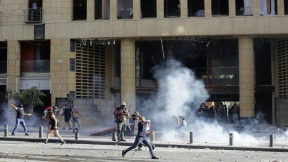Aprovechando la explosión en el puerto, Israel y EE.UU. buscan desestabilizar El Líbano