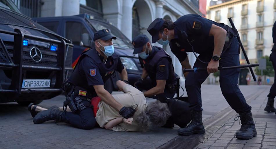 CGT condena la brutal detención de Luis Gimeno en la manifestación antimonárquica de Madrid