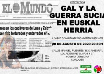 Nación Andaluza y Herritar Batasuna organizan un acto sobre los GAL en Euskal Herria