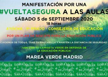 La Marea verde se pone en marcha para las próximas movilizaciones
