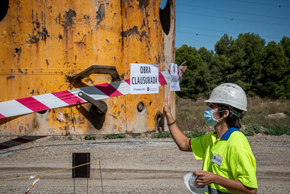 «Clausuradas» las obras del TAV en Navarra