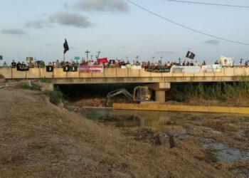 La manifestación en defensa del mar Menor se celebra con éxito