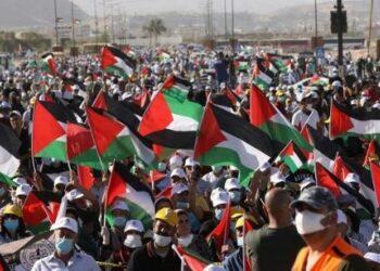 Protestas en Palestina contra el acuerdo entre Israel y los Emiratos Árabes Unidos
