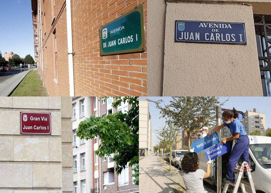 El INE aporta listado de callejero con el nombre de Juan Carlos I: el primer paso para iniciar campaña que exija su retirada