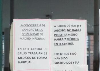 La Asociación Vecinal La Unidad de San Cristóbal denuncia recortes en el centro de salud