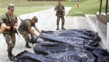 Siguen las masacres en áreas de las Fuerzas de Tarea del Ejército en Colombia
