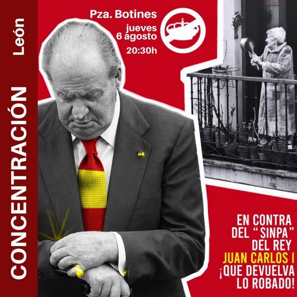 """El PCE de León apoya la concentración del jueves 6 de junio frente al """"sinpa del rey Juan Carlos"""""""